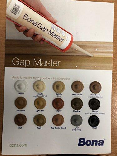 bona Gap Master è un mastice senza silicone nei colori dei vari legnami, ideale per stuccare...