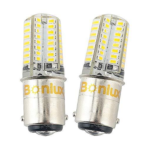 Bonlux 2-Pack Ba15d LED lampadina 12V bianco freddo 6000K doppio contatto baionetta SBC Ba15d 1141...