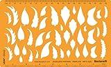 Joyería joyas Art Craft diseño plantilla de dibujo redacción Stencil-árbol hoja hojas formas símbolos
