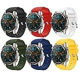 TMCCB Correa para Huawei Watch GT Pulsera Banda-[6 Packs] Silicona Reloj de Recambio Brazalete Correas para Huawei Watch GT