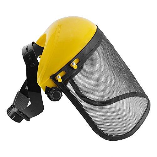Casco de seguridad - Casco de seguridad con visera de malla completa, para registrar la protección forestal con desbrozadora