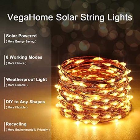 Guirlande-Lumineuse-Solaire-VegaHome-2-x-10M-100-LED-Guirlande-Solaire-Lumineuse-Extrieur-8-Modes-tanche-Fil-de-Cuivre-pour-la-Dcoration-Chambre-Jardin-Patio-Mariage-Soire-Fte-Nol-etc