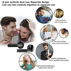 Kindak-Compatible-para-Todos-Mviles-y-Android-Inalmbricos-Auriculares-Bluetooth-Wireless-In-Ear-Micrfonos-Manos-Libres-Cascos-Earbuds-Mini-Headphone-Earpods-Negro
