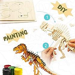 DIY Dinosaurio T-Rex Puzzle 3D de Madera