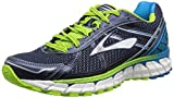Brooks Adrenaline GTS 15, Herren Laufschuhe, Blau (Peacoat/Atlantic/LimeGreen), 44.5 EU (9.5 UK)