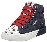 Geox Jr Ciak C, Zapatillas Altas para Niñas, Azul (Jeans/Navy), 38 EU