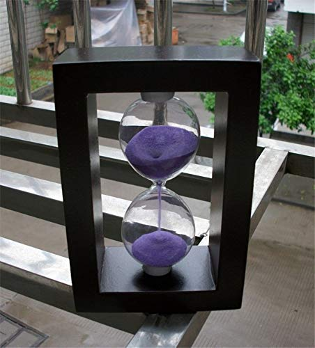 KNAFS Wooden Frame Hourglass Sand Timer Wood Sand Timer for Home Kitchen School Decorative Glass Craft Birthday Gift.