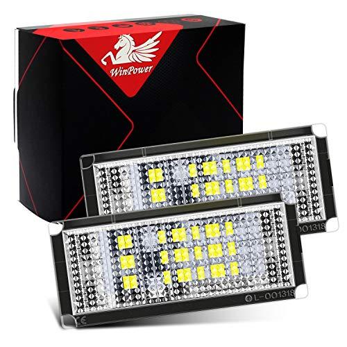 WinPower LED Luci targa per auto Lampada targa 3582 SMD con CanBus nessun errore 6000K Xeno Bianco...