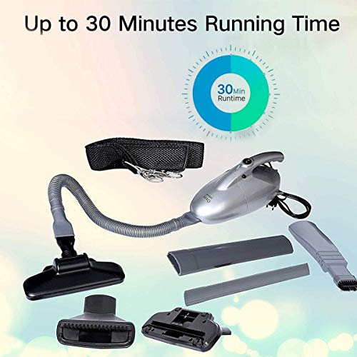 Vacuum Cleaner for Home and Car 1000 watts Operating Voltage: 220-240 Volts/Blowing/Multi-Functional Portable Handheld Car Electric Vacuum/Blowing, Sucking, Dust Cleaning (Silver)