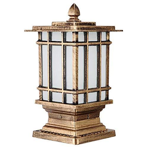 Outdoor Patio Alberino della lampada  Finitura bronzo  Esterno impermeabile IP44 pressofuso in alluminio da colonna pilastro Luce Lanterna  Victoria antipioggia paralume di vetro Veranda Lampione
