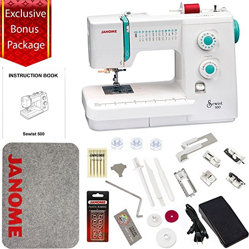 Janome Sewist 500 Sewing Machine with Exclusive Bonus Bundle