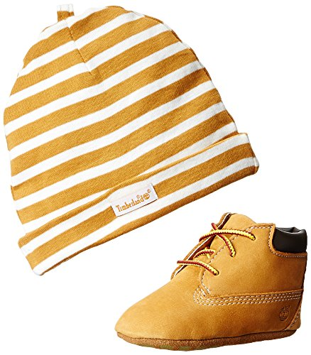 Timberland Crib Bootie with Hat, Polacchine Unisex-Bambini, Giallo (Wheat), 18.5 EU
