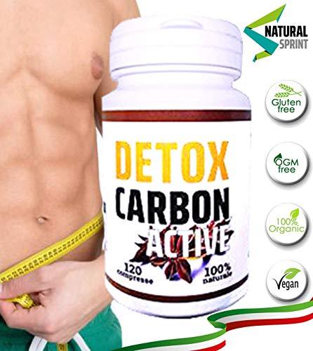 DETOX CARBON ACTIVE | Dimagrante Detox | Brucia Grassi | Per Perdere Peso Velocemente | Eccezionale Per Pancia Piatta Cosce Addominali E Purificare Il Corpo | Termogenico Naturale