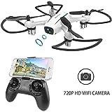 WINGLESCOUT Drone con Telecamera H816HW Mini Quadricottero Fotocamera Reale HD 720P FPV[App...
