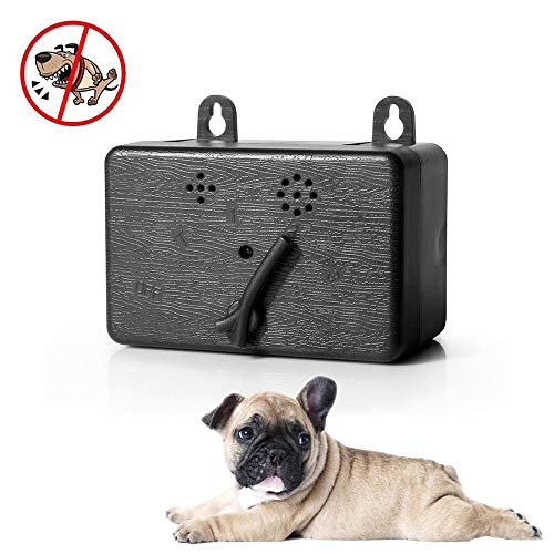 Hamkaw Anti Barking Device, Ultrasonic Dog Barking Control for Indoor & Outdoor, Waterproof Bark Stopper Device with 4 Adjustable Modes, Sonic Bark Deterrent Silencer Safe for Small/Medium/Large Dogs