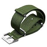 Cinturino stile svizzero NATO, con metallo di alta qualità, Verde Militare di ZULUDIVER®, 22mm