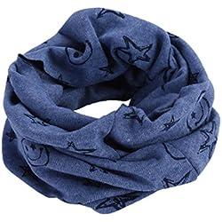 Bluestercool Otoño invierno bebé pañuelos Niños Niñas collar del bebé bufanda de algodón Cuello redondo Bufandas (Armada)