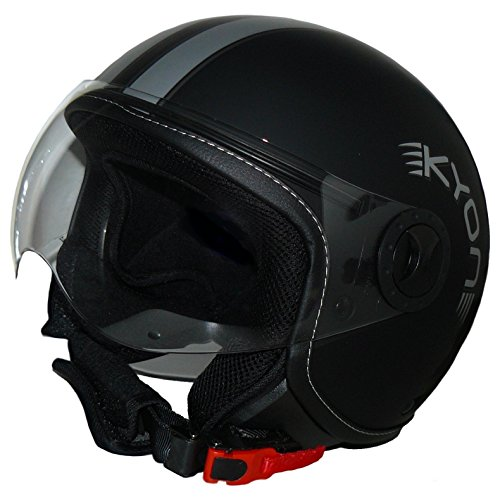 Protectwear Jethelm Motorradhelm im Pilotendesign H710-Streifen - M