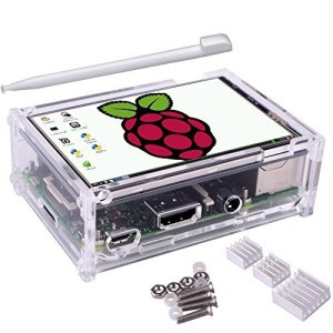 51iOWiKBhUL - Kuman 3.5 Inch Pantalla LCD 320 * 480 Resolution Touch Screen TFT LCD Display with Protective Case + 3 x Heat Sinks+ Touch Pen for Raspberry Pi 3 Model B, Pi 2 Model B & Pi Model B+ SC11