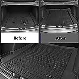 Womdee Gummi Kofferraummatte für Tesla Model 3, Gummi Kofferraumwanne Premium Antirutsch fahrzeugspezifisch, Robust, Geruchlos, Speziell für Tesla Model 3 Entwickelt