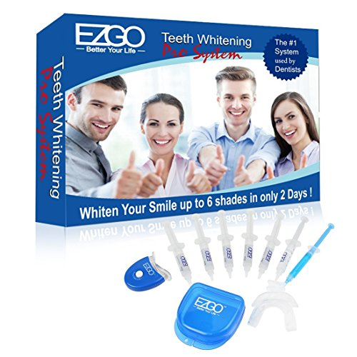 Truvision Deluxe Home Professional Teeth Whitening Kit with Whitening Gel, Remineralization Gel, Mouth Tray and Activator Led Kit.