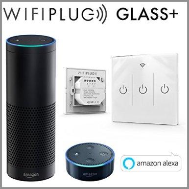 wifiplug-Glas-3-Gang--Alexa-House-Licht-Schalter--kein-Hub-erforderlich
