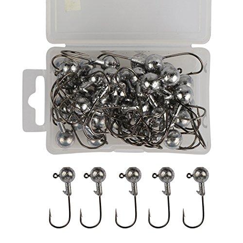 Goture-Set di ami da pesca per acqua salata, con scatola portaccessori per pesca con pesce Jig Heads