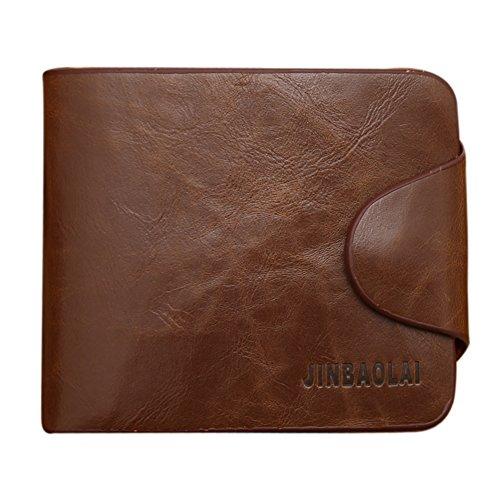Rimin Mens Leather Wallet Card Holder Purse Pockets Bifold Money Clip Wallets