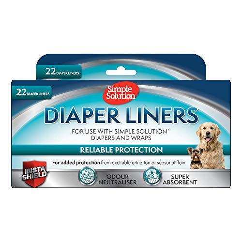 Semplice Soluzione Semplice Soluzione USA e Getta Dog Diaper Liners Ultra-Absorbency-22Pezzi