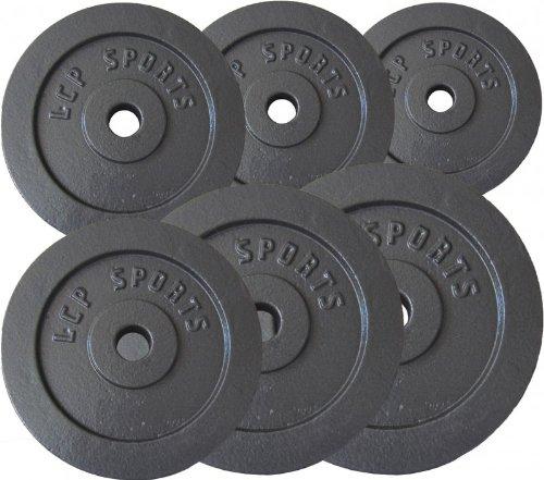 Premium Gusseisen Hantelscheiben Gewichte Sets 2,5 kg 5 kg 7,5 kg 10 kg 15 kg 20 kg, Gewichte:2 x 5 kg + 2 x 10 kg