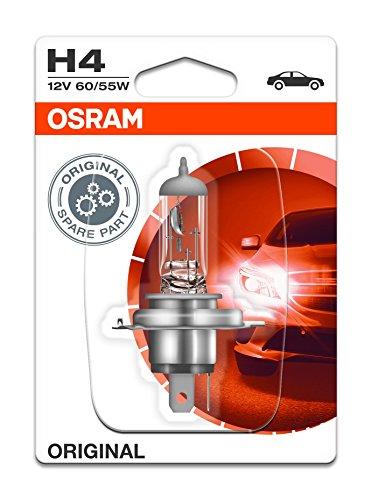 OSRAM NIGHT BREAKER UNLIMITED H4 Lampada alogena per proiettori  64193NBU-02B 110% in più di luce, 20% più bianca - in Blister doppio