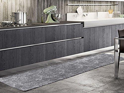 Arredo Carpet Chenille Timber Passatoia Tappeto Moderno da Cucina, Luminoso e Versatile, Antiscivolo...