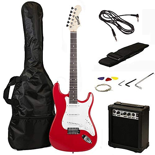RockJam RJEG02-SK-RD Kit per Chitarra Elettrica