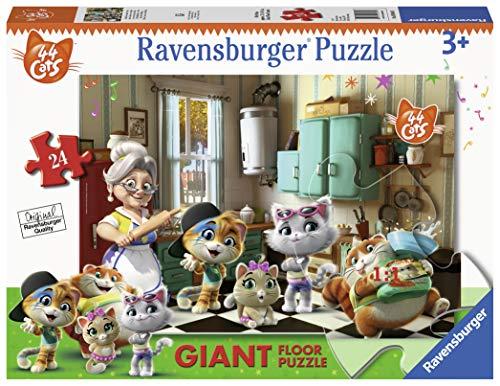 Ravensburger 03004 44 Gatti B Puzzle, Pavimento, 24 Pezzi