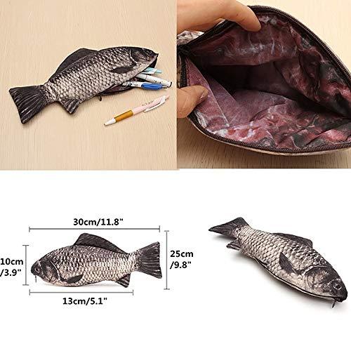 Astuccio Bambina,Astuccio Unisex,Idee Regalo Student,Simulation Fish Pen Bag - Edizione...