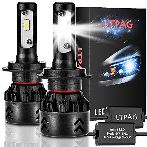 Lampadina H7 Led, CSP 72W 12000 LM Fari Abbaglianti o Anabbaglianti per Auto Kit - Sostituzione per...