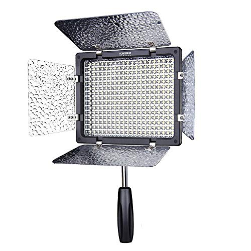 Yongnuo YN-300 LED Video Light Luce Video a LED 5500K con 300pcs LED Luce Video Lampada con IR...