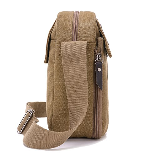 Super Modern™ Men Small Vintage Canvas Messenger Bag Cross body bag ... 77547cfe8f688