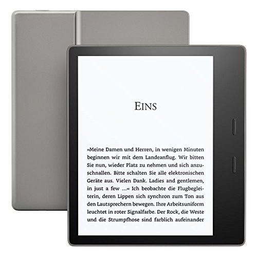Kindle Oasis eReader, wasserfest, hochauflösendes 7Zoll (17cm) großes 300-ppi-Display, mit Umblättertasten, 8GB, WLAN