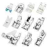 JTDEAL - 11 piedini premistoffa, kit di piedini premistoffa per macchina da cucire, accessori di ricambio per macchine da cucire Brother, Singer, Janome, Toyota