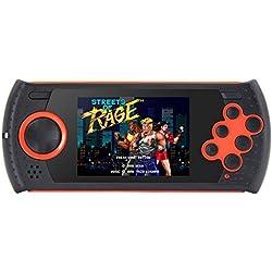 7,6cm (3 Zoll) 16Bit Retro Game tragbare Spielkonsole für SEGA Spielkonsole integrierte 1100nicht wiederholende Spiele Videospiel-Konsole MP3MP4Video-Unterstützung AV-Kabelausgang.