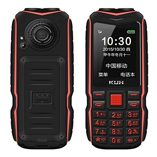 Unlocked GSM Cell Phone for Elderly Preople | 15800mAh English Keyboard Dual Sim 2.8 inch Screen Resolution 240 x 320 Outdoor Dual Flashlight Mobile Phone (Red)