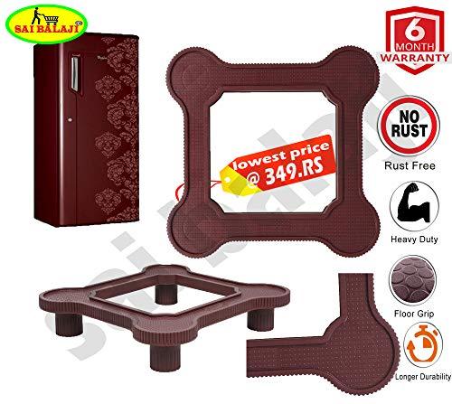 Fridge Stand/Washing Machine Stand Heavy Quality (Multi Purpose Stand) Meroon Color SAI BALAJI