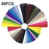 Cerniere a spirale in nylon multicolore Wartoon 120pcs 23cm / 9 pollici e 30cm / 12 pollici per cucito e artigianato 24 colori