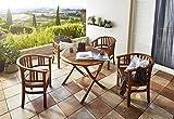 SAM Gartensessel Karlebo Stuhl mit Armlehnen, Gartenmöbel für Balkon & Terrasse, Akazien-Holz massiv, FSC 100% Zertifiziert - 5
