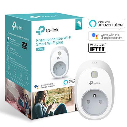 51j0W9ReIjL [Bon Plan Domotique] TP-Link HS100(FR) Prise connectée WiFi, Charge maximale 16A, compatible avec Amazon Alexa (Echo et Echo Dot), Google Assistant et IFTTT pour la commande vocale, aucun hub requis