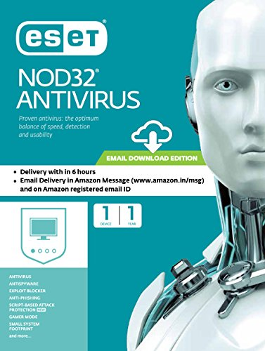 Eset NOD32 Antivirus 1 PC, 1 Year (Email Delivery in 2 hours- No CD)