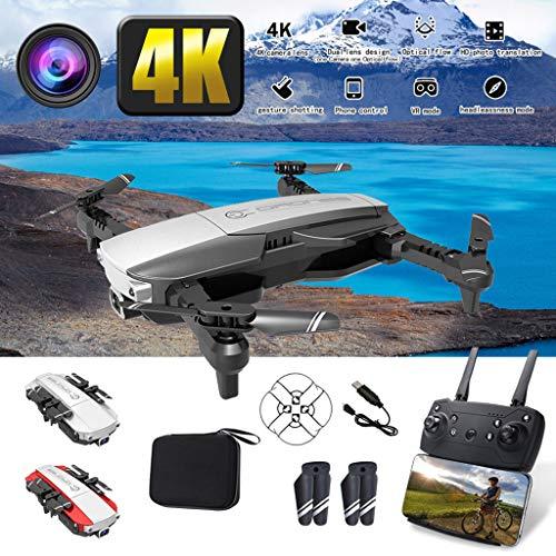 bloatboy LANSENXI-NVO 2.4 G WiFi FPV 4 K Fotocamera grandangolo Pieghevole RC Drone quadricottero, Registrazione dell'Aria HD Quattro Assi di Volo