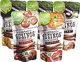 Guzman's Guzinos gesunder Gemüsesnack, 100% Veggie, vegan, glutenfrei, sojafrei, gentechnikfrei (5er Pack: 3 Mixed, 1 Tomate 1 Paprika)