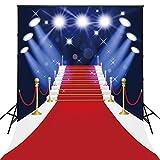 150x220cm sfondo per la festa di Hollywood Live Show Fotografia video Red Stage Background Foto puntelli D-4123
